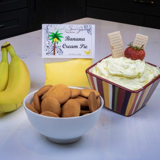 Banana Cream Pie Dessert Dip with Vanilla Wafers
