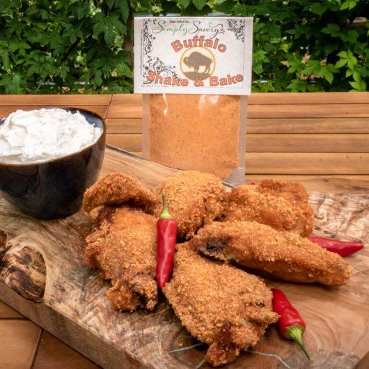 Buffalo Shake and Bake on Chicken Wings