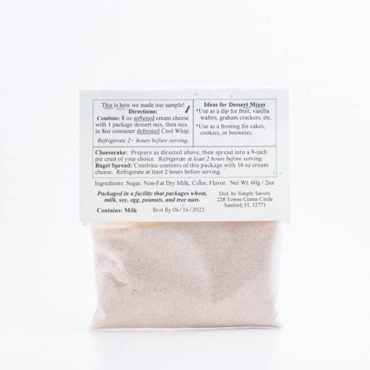 Caramel Apple Dessert Dip Mix Packet Back