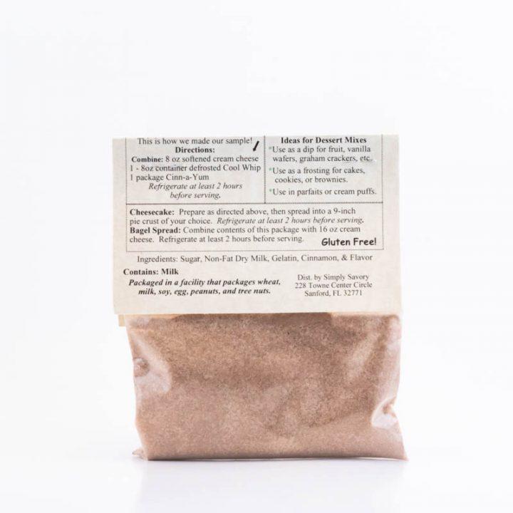 Cinn-a-Yum Dessert Dip Mix Packet Back
