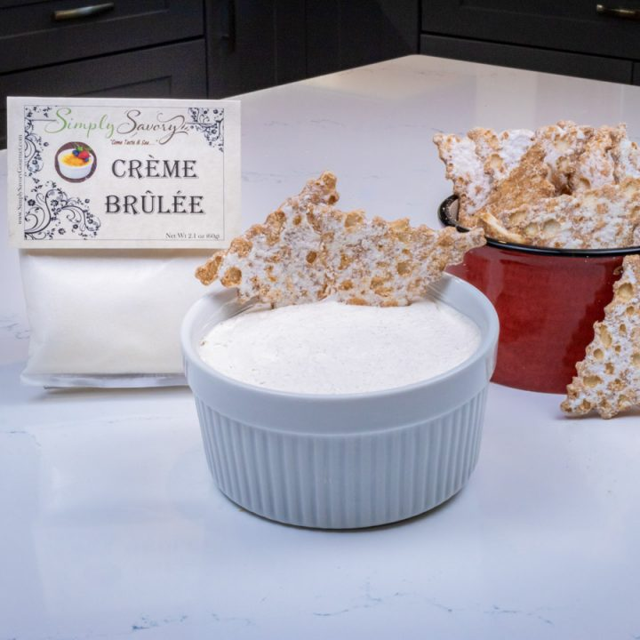 Creme Brulée Dessert Dip with Cannoli Chips