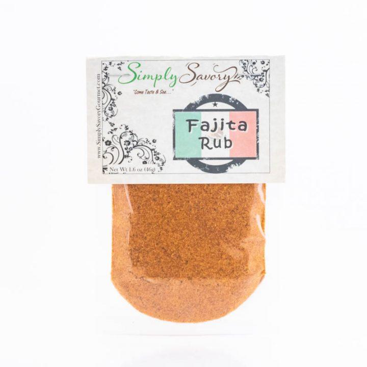 Fajita Rub Packet Front