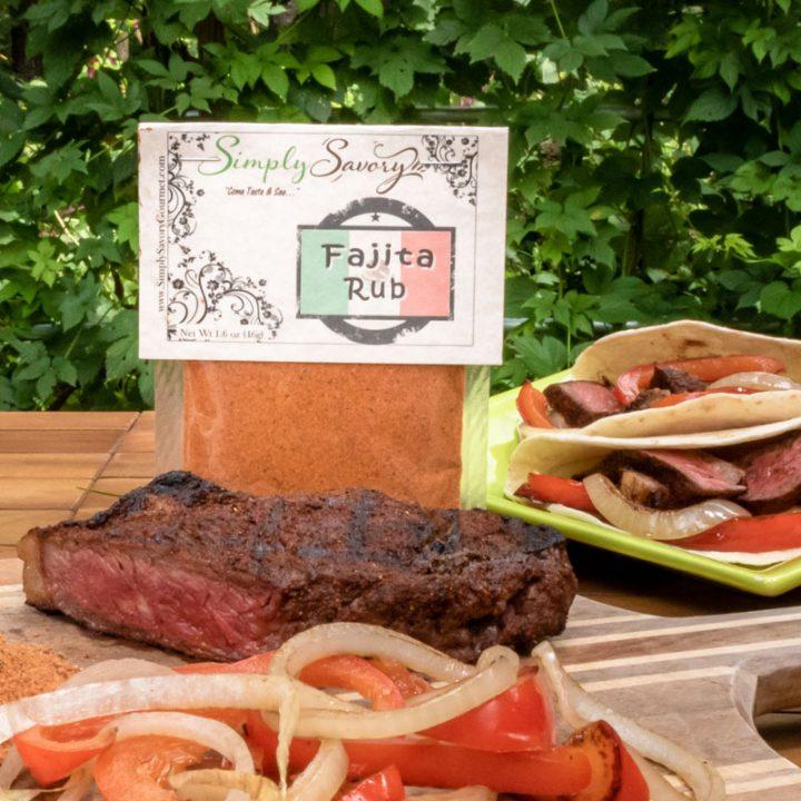 Fajita Rub on Steak and in tortillas