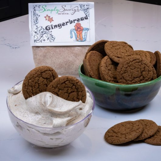 Gingerbread Dessert Dip with Ginger Snaps