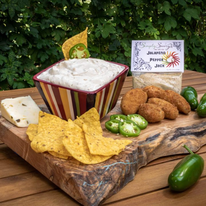 Jalapeno Pepper Jack Dip with Jalapeno Poppers