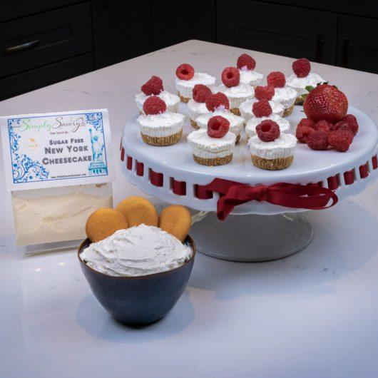 Sugar Free New York Mini Cheesecakes and Dessert Dip