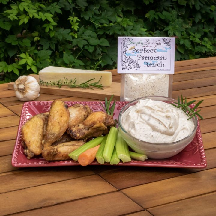 Perfect Parmesan Dip with Chicken Wings