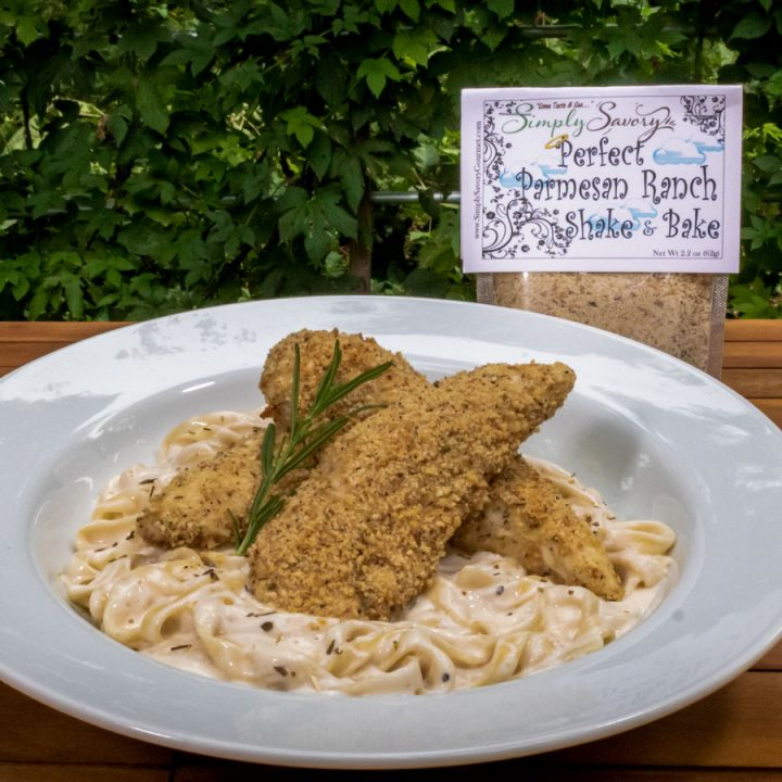Perfect Parmesan Ranch Shake and Bake on Chicken in Alfredo