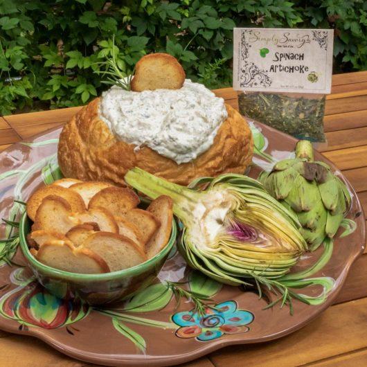 Spinach Artichoke Dip in a Bread Bowl