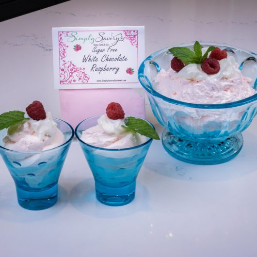 Sugar Free White Chocolate Raspberry Dessert